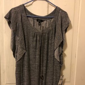 Gray blouse with necklace